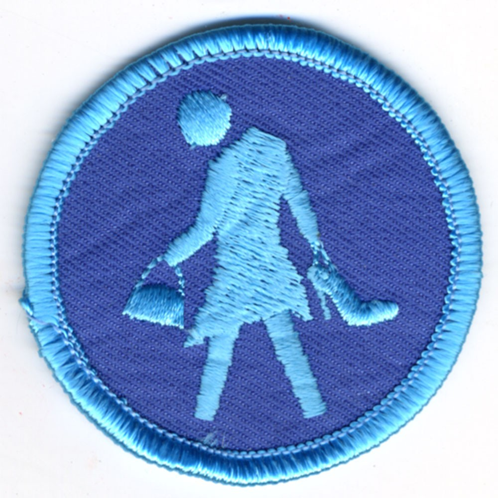 blue circle walk of shame badge